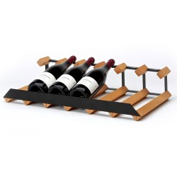 Pultový stojan na víno na 6 lahví
