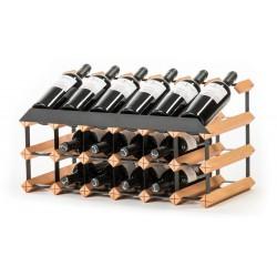 Pultový stojan na víno na 18 lahví